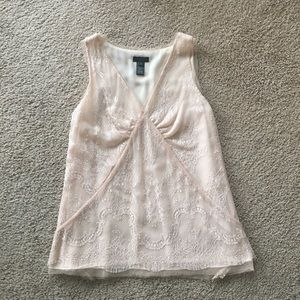 Jcrew Collection Lace Overlay Top size 0